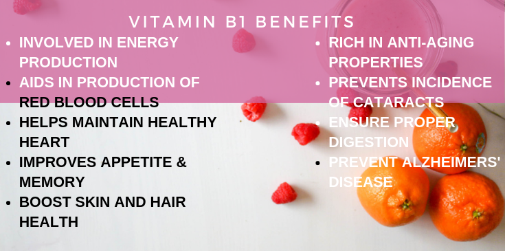 Vitamin b1 benefits in brief