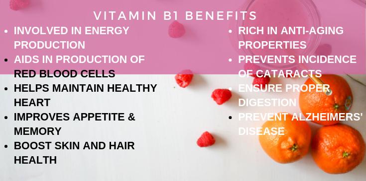 Vitamin b1 benefits in brief
