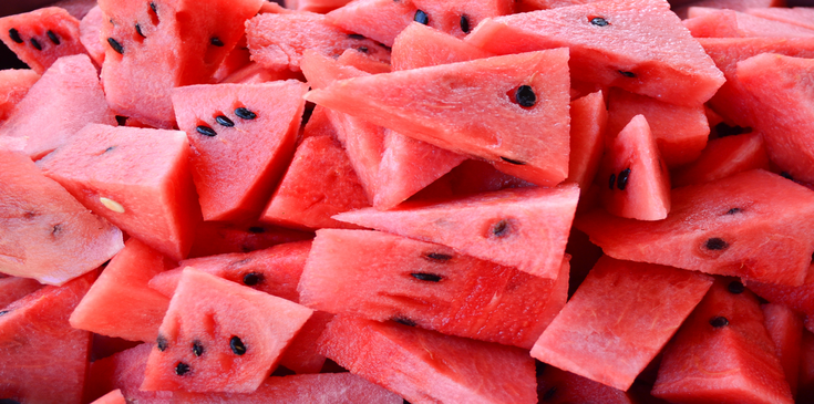 fresh watermelon sliced