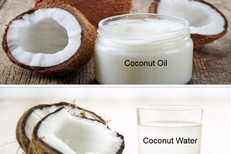 Fresh coconut oil and water