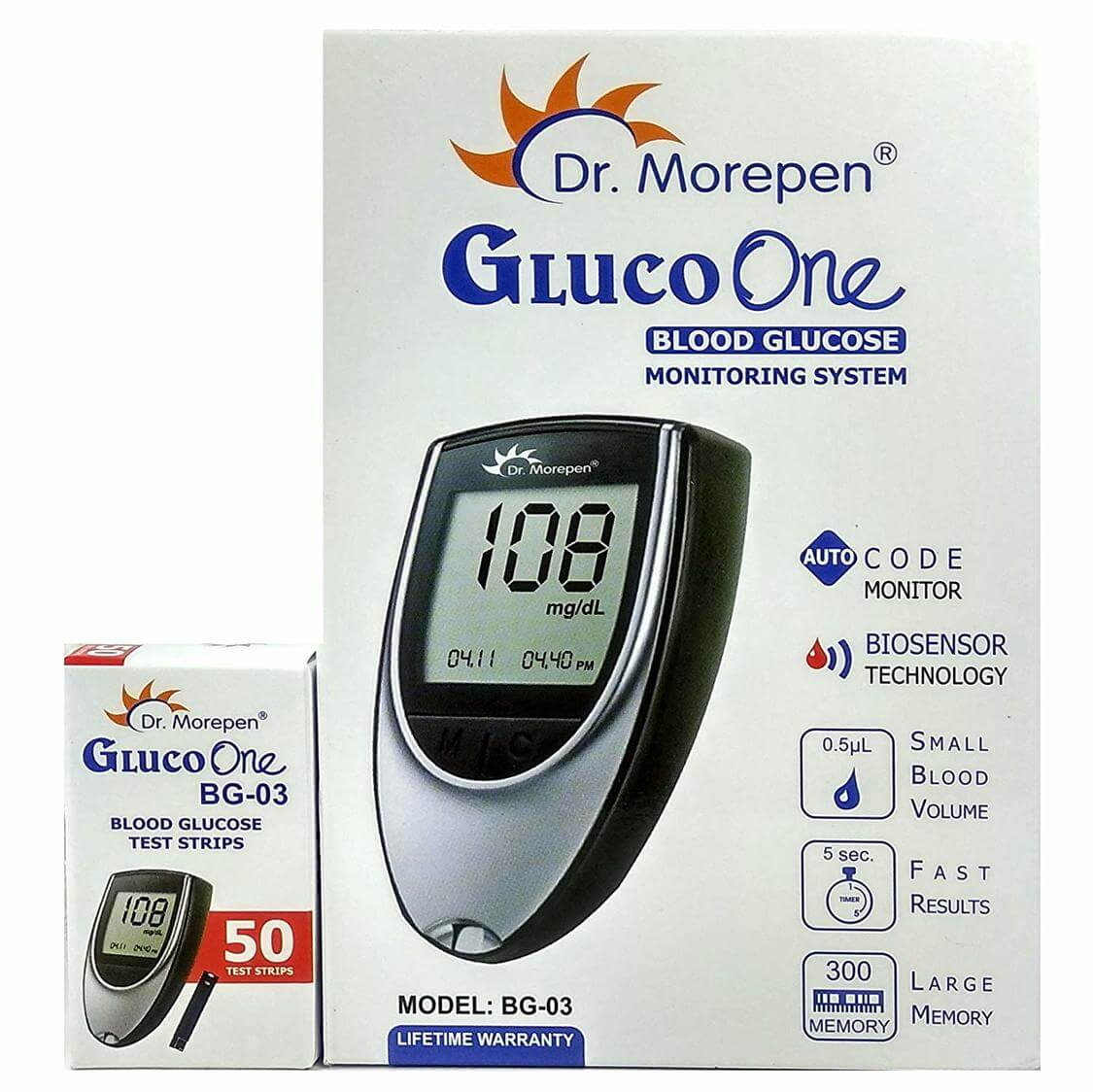 most reviewd glucometer in India dr morepen
