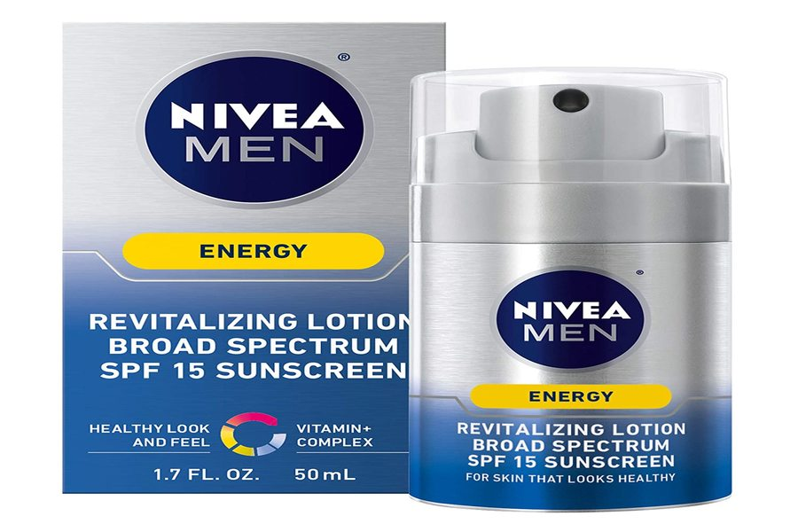 NIVEA Men Energy Lotion Broad Spectrum SPF 15 Sunscreen best screen in India