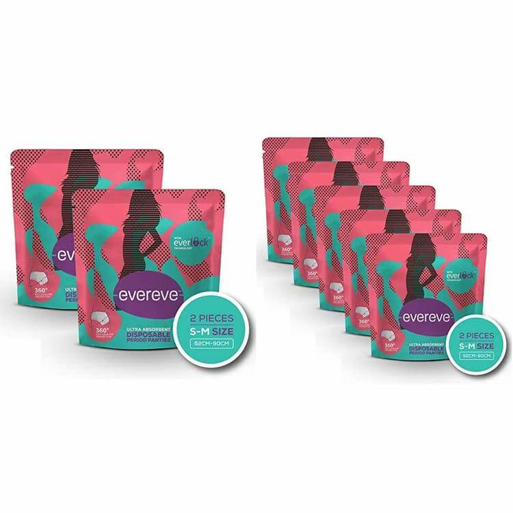 EverEve Ultra Absorbent Disposable Period Panties for Sanitary Protection