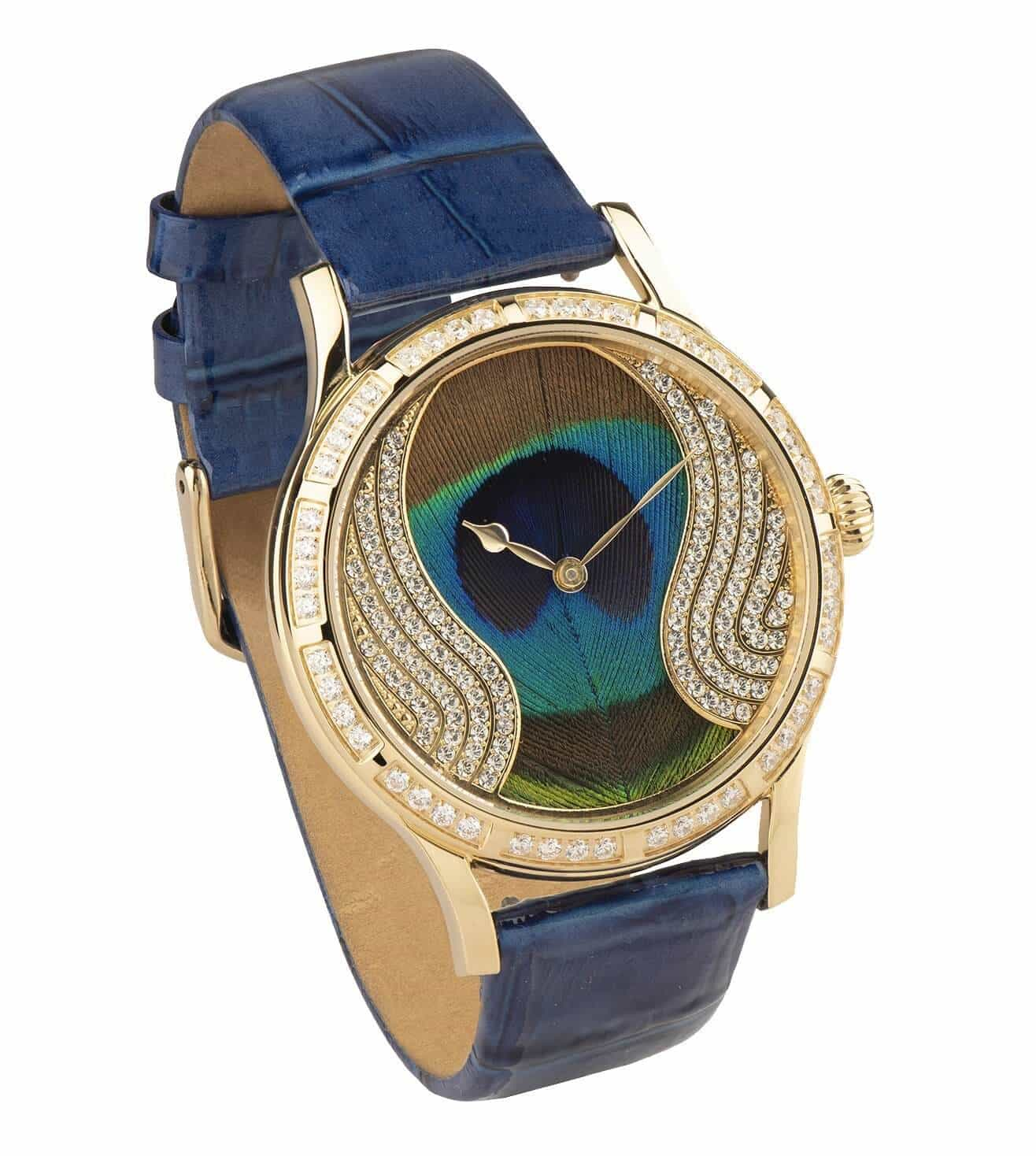 Jaipur watch peacock feature wrist watch