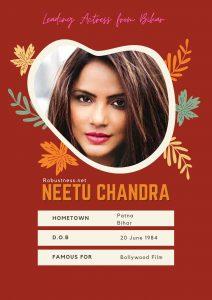 Bihar born actress neetu chandra