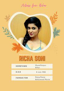 Richa Soni actress from bihar