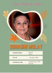 patna born actress suhasini mulay