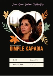 Dimple kapadiya birthday in june