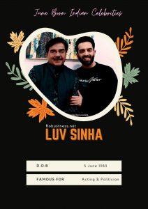 Luv Sinha born in june