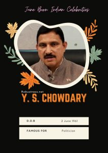 Y S chaudhary date of birthday in june