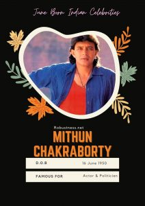 bollywood actor mithun chakroborty date of birth in june
