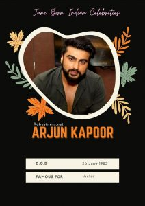 indian celebrity arjun kapoor born in june