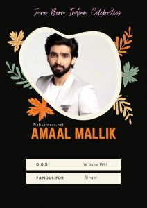 singer amaal malik birthday in june